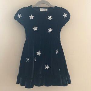 Lil Lemons For Love & Lemons Black Silver Dress 4T